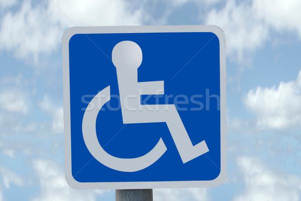 sky wheel chair sign Stock photo © morrbyte