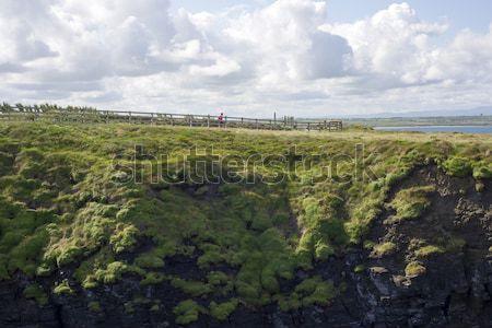 high green cliffs Stock photo © morrbyte