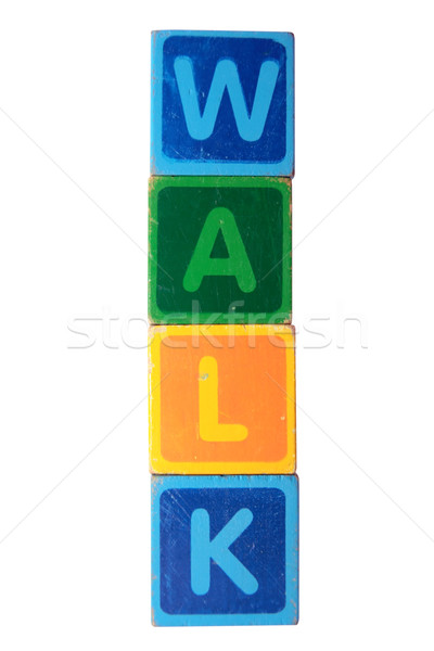 walk in toy block letters Stock photo © morrbyte