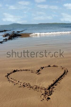sand love heart  Stock photo © morrbyte