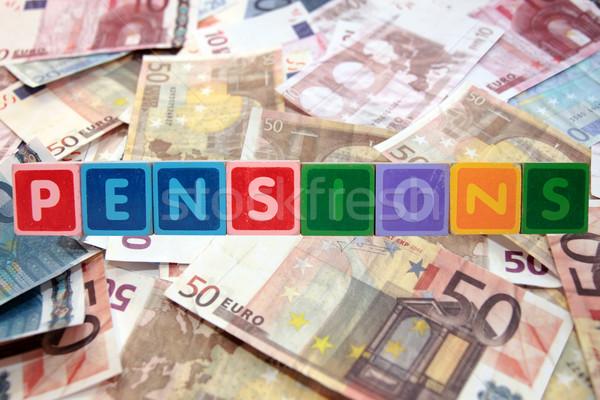 Lettere euro giocattolo contanti Foto d'archivio © morrbyte