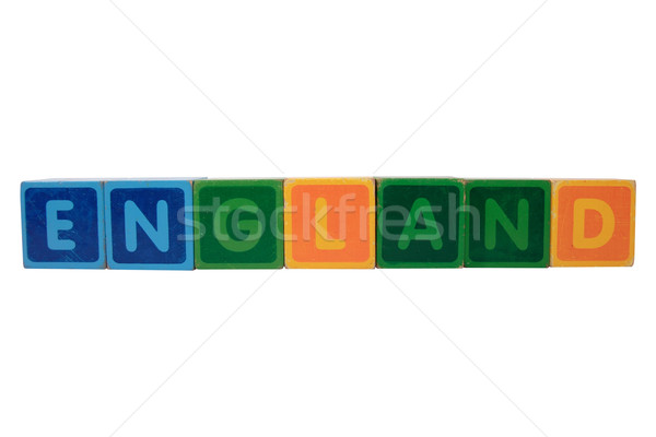 england in toy block letters Stock photo © morrbyte