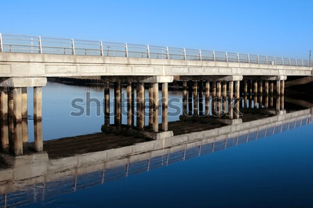 irish road bridge over cold river Stock photo © morrbyte