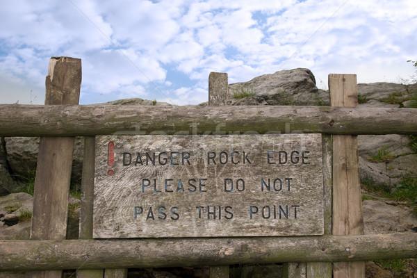 Pericolo rock bordo non punto Foto d'archivio © morrbyte