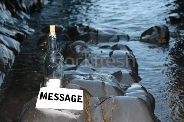 message in a bottle Stock photo © morrbyte