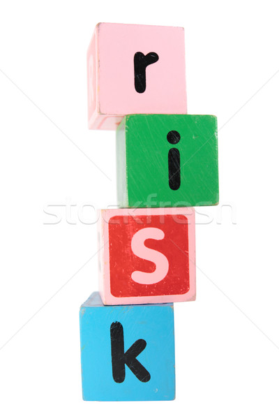 risk in toy play block letters Stock photo © morrbyte