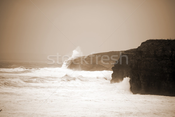 big white waves and cliffs on the wild atlantic way Stock photo © morrbyte
