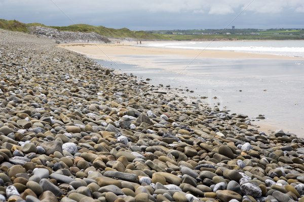 pebbled ballybunion beach beside the links Stock photo © morrbyte