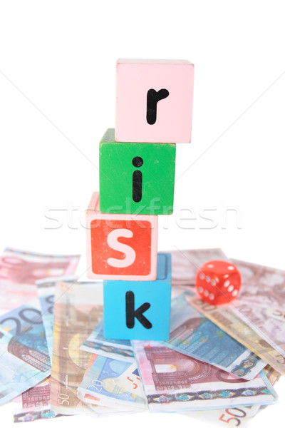 euro risk in toy play block letters Stock photo © morrbyte