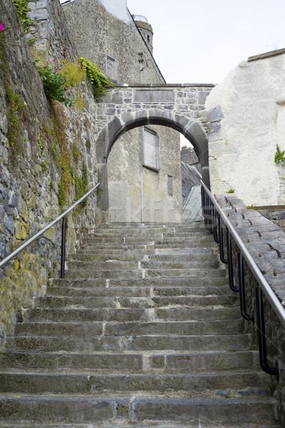древних шаги город стены часы время Сток-фото © morrbyte