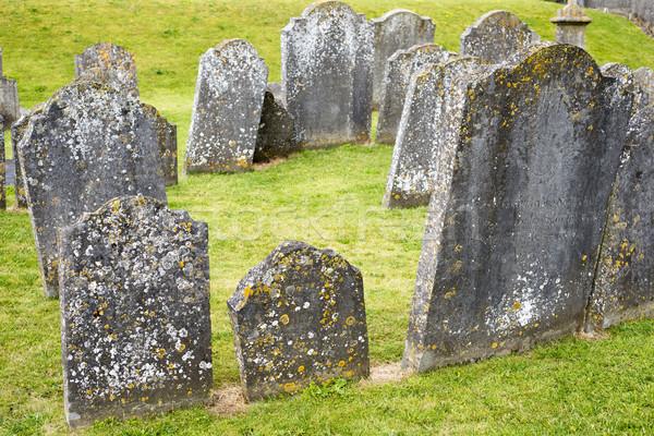Anciens cimetière cimetière cathédrale ville Irlande Photo stock © morrbyte
