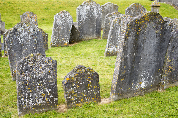 Antigo cemitério cemitério catedral cidade Irlanda Foto stock © morrbyte