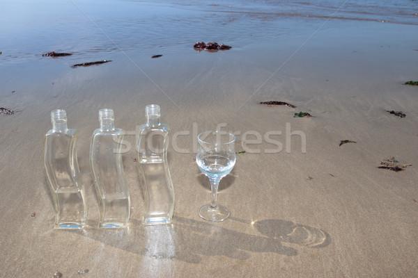 glass water bottles Stock photo © morrbyte