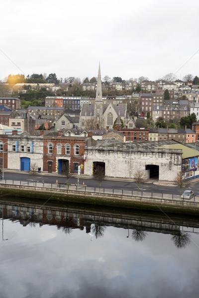 Cork city beside the river Lee Stock photo © morrbyte