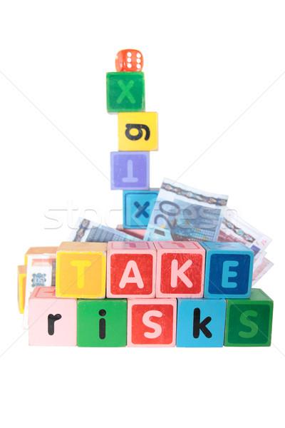 take risks in childs letter play blocks  Stock photo © morrbyte