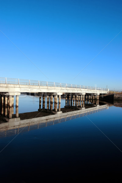 cashen road bridge over cold river reflected Stock photo © morrbyte