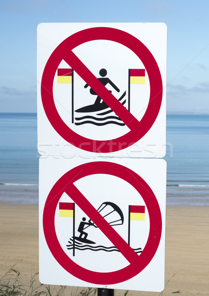 signs for surfers in ballybunion Stock photo © morrbyte