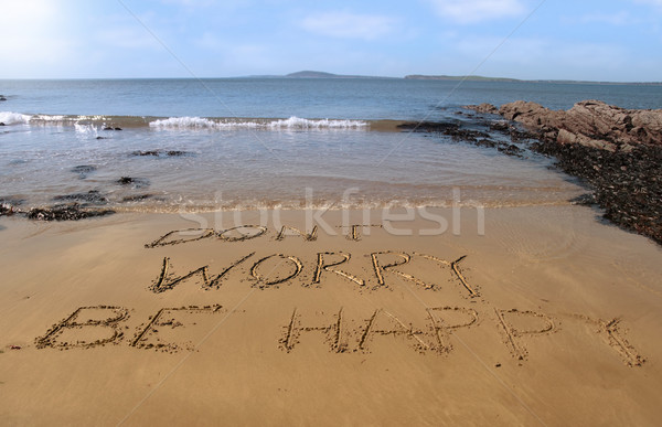 dont worry be happy Stock photo © morrbyte
