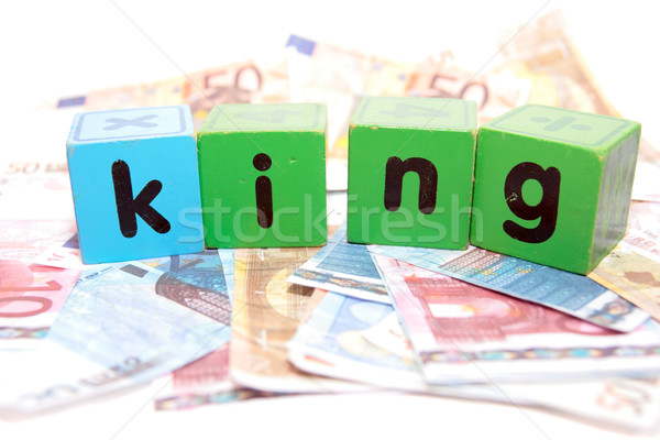 king in toy play block letters Stock photo © morrbyte