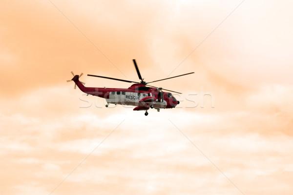Mar resgatar helicóptero missão Irlanda trabalhar Foto stock © morrbyte