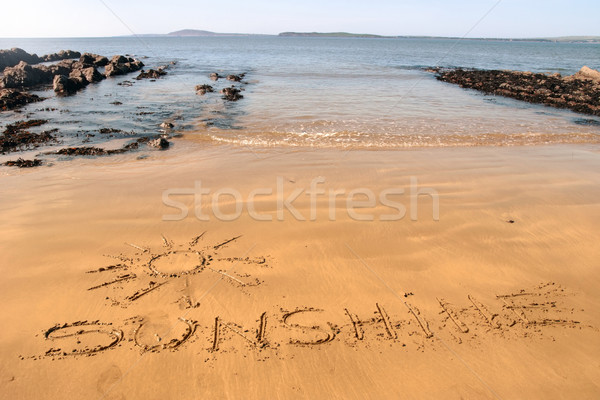 sunshine sands Stock photo © morrbyte