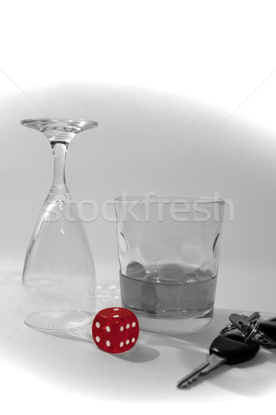 do not gamble to drink and drive Stock photo © morrbyte