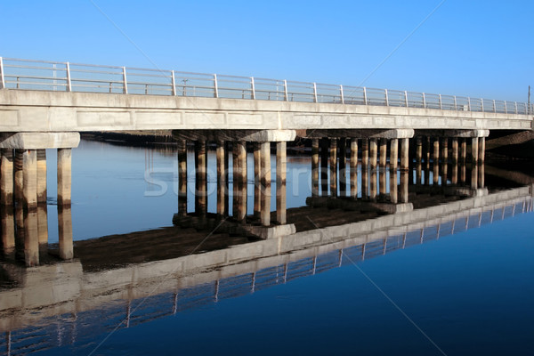 cashen road bridge over cold blue river reflected Stock photo © morrbyte