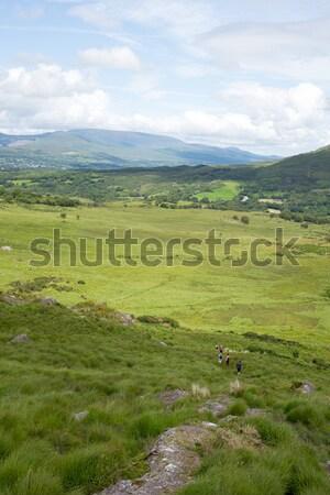 Berg wandelaars manier lopen Ierland Stockfoto © morrbyte