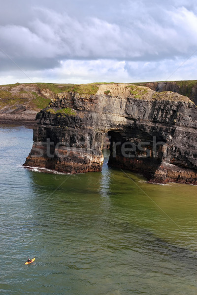 Bakire kaya İrlanda spor doğa güzellik Stok fotoğraf © morrbyte