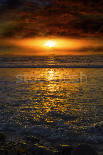 unreal sunset from beal beach Stock photo © morrbyte
