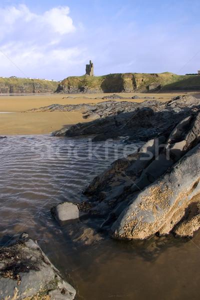 ballybunion castle rocks 2 Stock photo © morrbyte