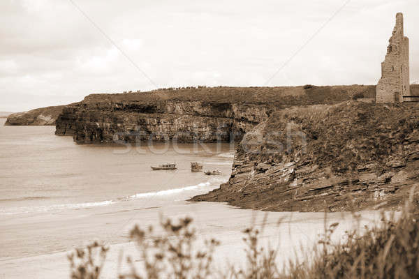 Zee klif redding dienst kasteel Stockfoto © morrbyte