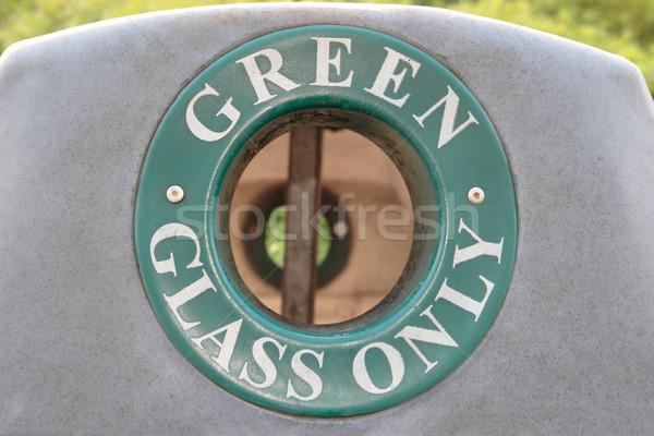 Stok fotoğraf: Yeşil · cam · geri · dönüşüm · mavi · endüstriyel