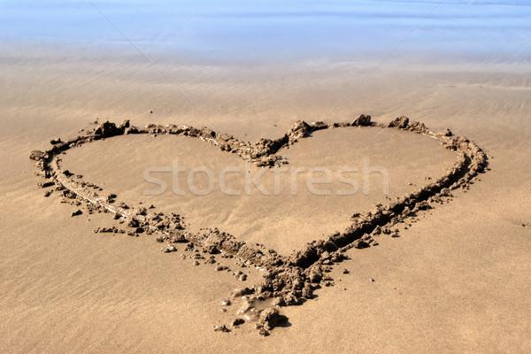 beachy love heart Stock photo © morrbyte