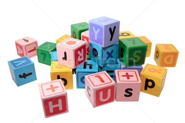 assorted letter play blocks Stock photo © morrbyte
