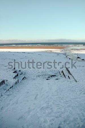 Stockfoto: Golf · gat · Ierland · winter · weer · Geel