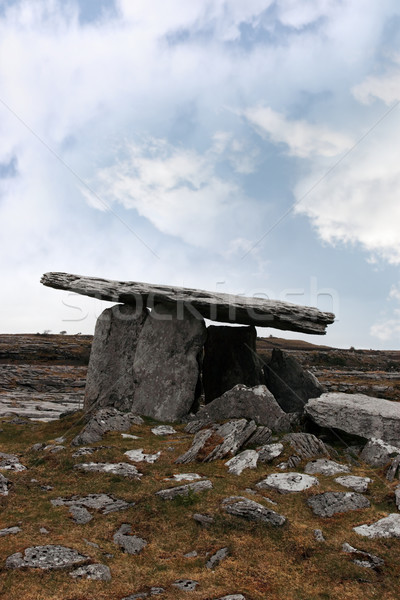 ancient poulnabrone dolmen tomb Stock photo © morrbyte