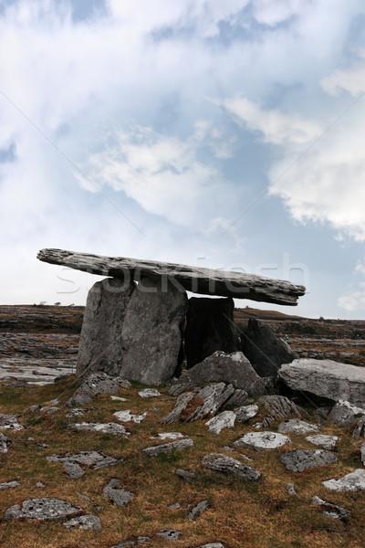 Starożytnych grób historyczny charakter niebieski Zdjęcia stock © morrbyte