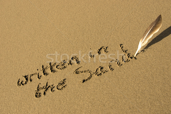 it is written in the sand Stock photo © morrbyte