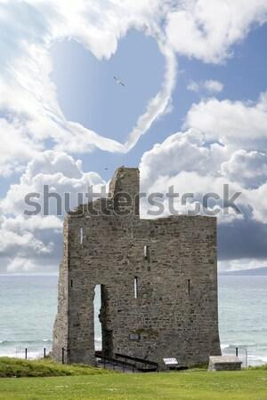 城 遺跡 サーファー 方法 アイルランド ストックフォト © morrbyte