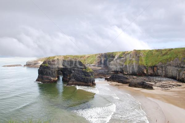 Vergine rock view rupe piedi natura Foto d'archivio © morrbyte