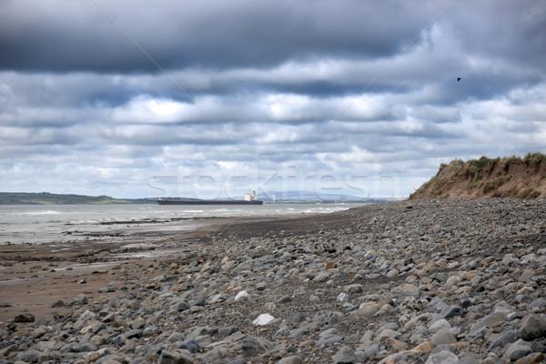 tanker at rocky beal beach Stock photo © morrbyte