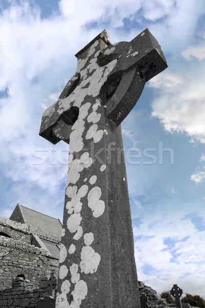 ancient cross Stock photo © morrbyte