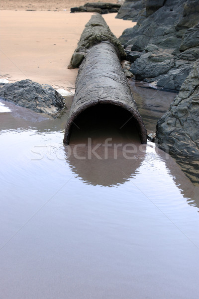 sea water rusty overflow pipe Stock photo © morrbyte