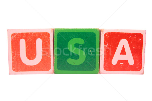 usa in toy letters Stock photo © morrbyte