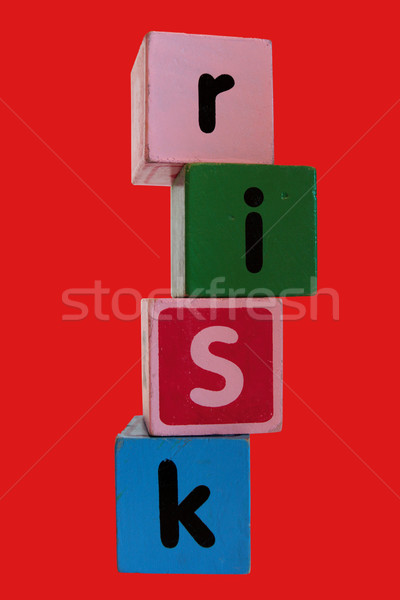 red risk in toy play block letters Stock photo © morrbyte