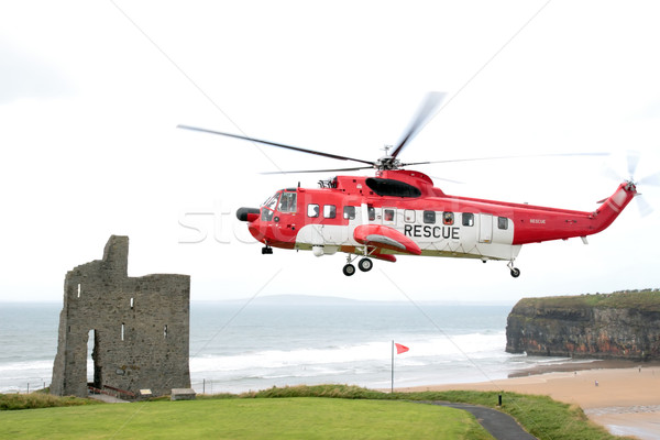sea rescue hovering Stock photo © morrbyte