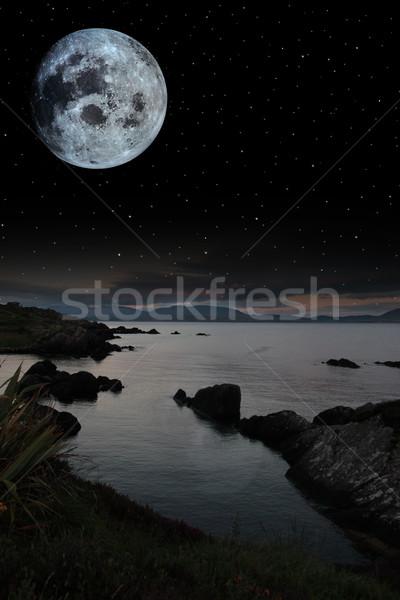 Notte tempo irish view Foto d'archivio © morrbyte