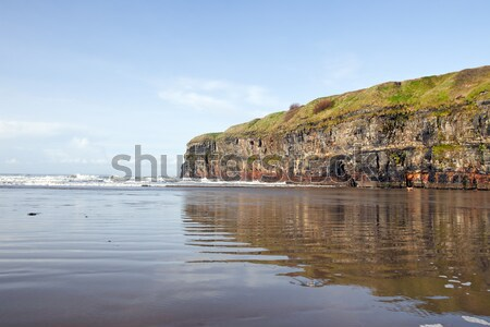 Ballybunion beach and cliffs wth Atlantic waves Stock photo © morrbyte