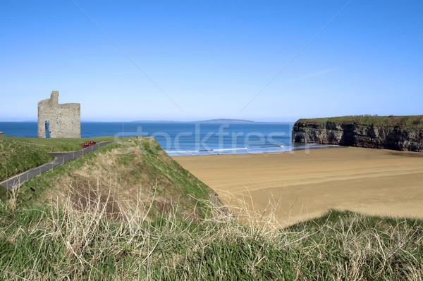Percorso spiaggia bella castello cielo erba Foto d'archivio © morrbyte
